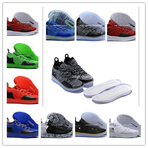 2018 Новое прибытие Zoom XI KD 11 баскетбольная обувь Kd11 черный серый персидский фиолетовый хлор синий мужской Кевин Дюрант 11s дизайнер кроссовки размер 7