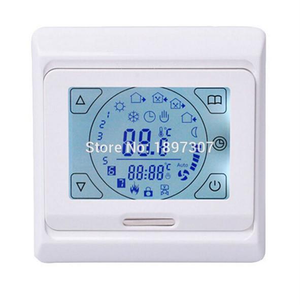 M9.716 (E91.716) Termostato digital de pantalla táctil para termostato del controlador de temperatura del sistema de calefacción por suelo caliente