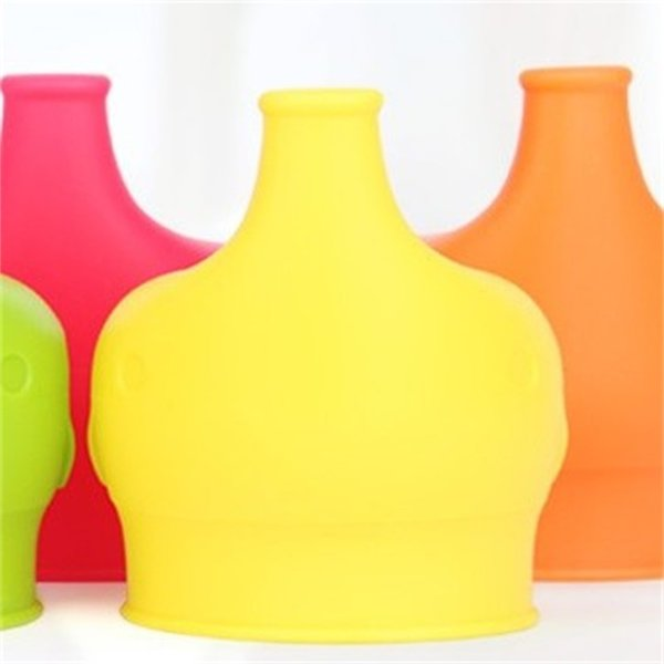 Elephant Cup Cover Food Grade Silicone Leak Proof Soft Anti Overflow Bottle Cap Sleeve Drinkware Lid Straw Parts New 4 2ks V