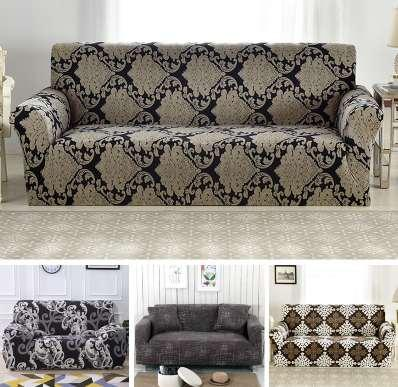 Fit 99% Sofa 1/2/3/4 Seater Sofa Cover Tight Wrap All Inclusive Sectional  Elastic Seat Sofa Covers Couch Covering Slipcovers Chair Sashes For Rent ...