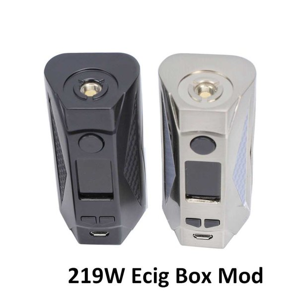 Newest TC Box Mod 219W Huge Wattage Vaporizer Electronic Cigarette Voltage Adjustable Vape Mods 18650 Battery 510 Thread With OLED Screen