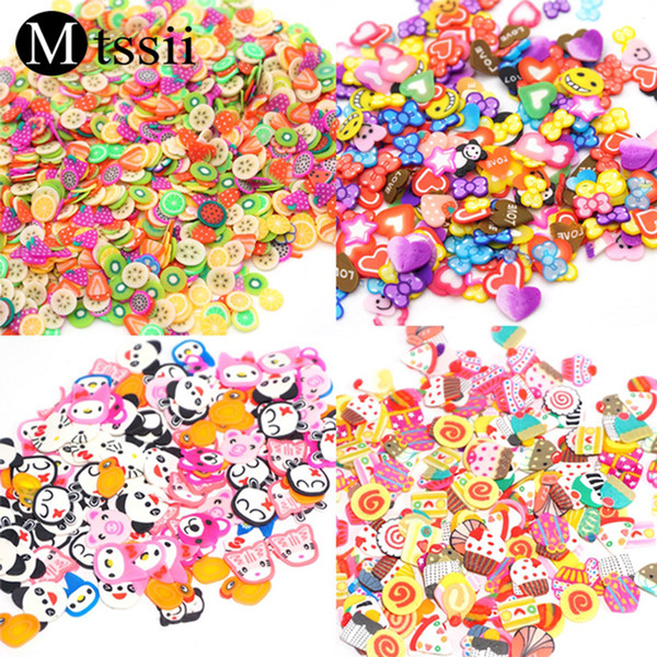 Mtssii Creative Handmade DIY Soft Pottery Decoration for Nails Colorful 3D Nail Art Decoration Accessories Tools Hot-sale Decor