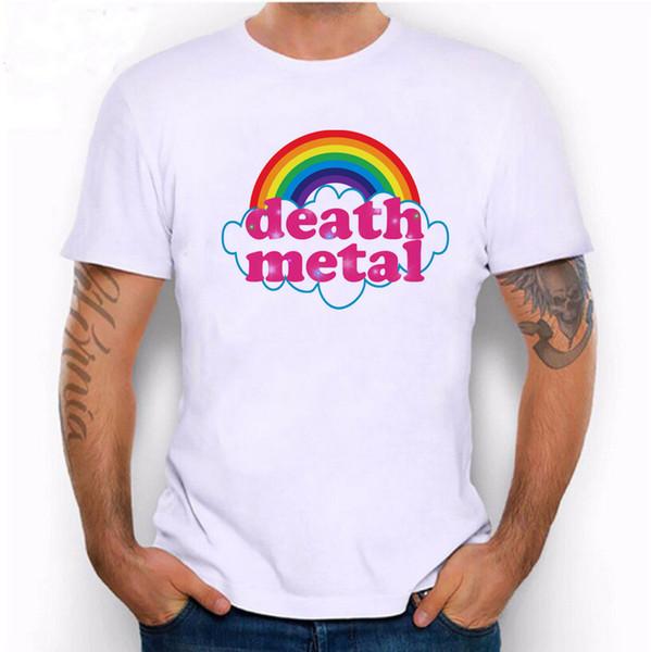 Hillbilly New Fashion Nette Regenbogen Death Metal Lustige Art Gedruckt t-shirt Herrenbekleidung Coole Straße 100% Baumwolle Klassische t-stück