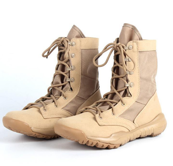 hot New Ultralight Men Army Boots Military Shoes Combat Tactical Ankle Boots For Men Desert/Jungle Boots Leisure sports shoes Size 38--46