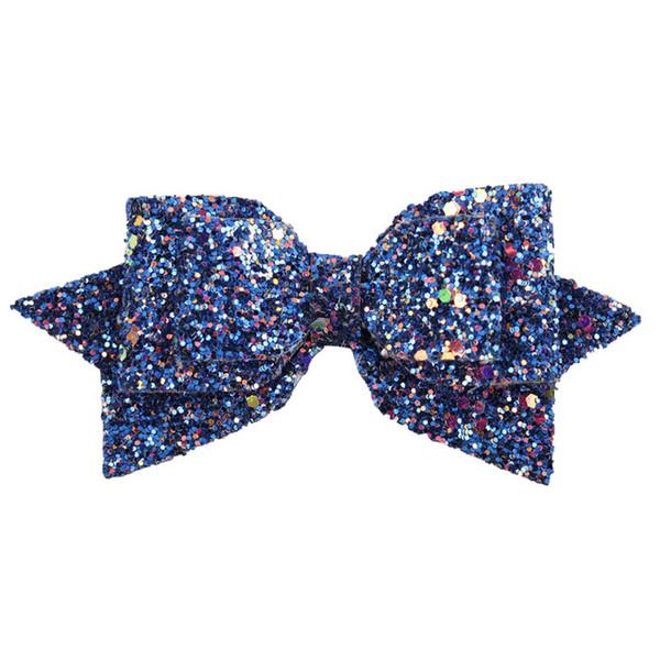 5 inches Sequin Hair clips Barrettes baby Girls Swallowtail Cute Hairpins Kids Hair Accessories 6 colors Bow Barrettes