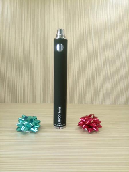 New Designs EVOD Twist Battery Variable Voltage 3.3~4.8V 650mah 900mah 1100mah EVOD Twist 510 Thread Electronic Cigarette