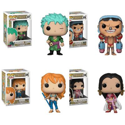 LilyToyFirm FUNKO POP One Piece Roronoa Zoro Nami Franky Boa Hancock Action Figure Doll Collectible Model Toy