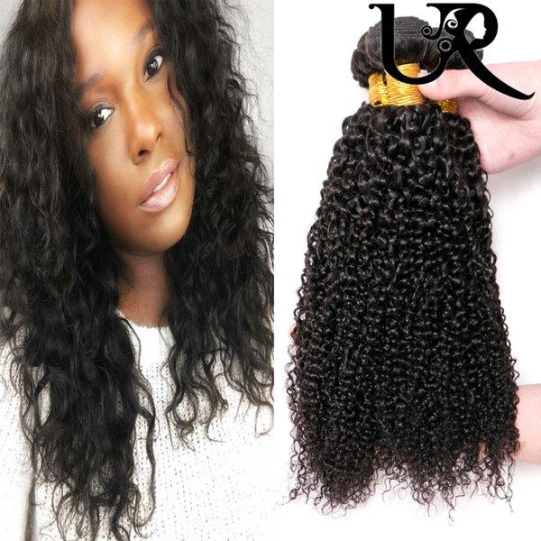 Cheap Afro Kinky Curly Hair Extensions 8A Brazillian Mink Hair Weave Black Women 8-28inch Unprocessed Virgin Hair 4pcs Natural Black