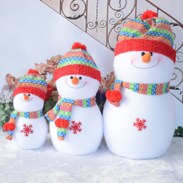 lovely Foam Snowman toy Christmas Decorations Rainbow hat Santa Claus Family Best Christmas Gifts Decorations family S/M/L HFD75