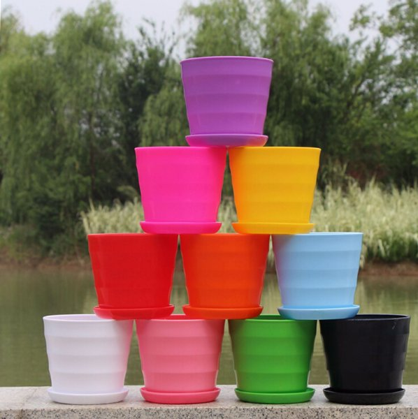 Free shipping Hot Sale RetroStyle Plastic Bonsai Pot Balcony Square Flower Planter Nursery Pots Basin Maceta Cuadrada Wholesale
