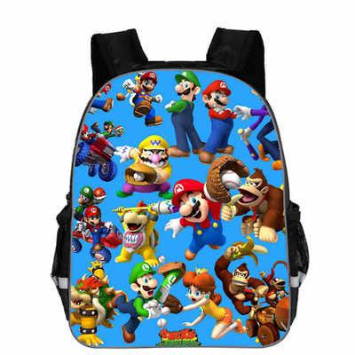 2019 11-18 Inch Super Mario Bros Kindergarten School Bags Sonic Printing Bookbags Children Baby Toddler bag Kids Backpacks Gift