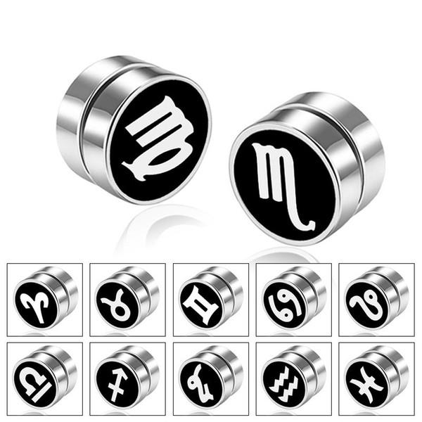 12 Orecchini in acciaio inossidabile con magnete a costellazione, orecchino, design, gioielli di moda per donna uomo Drop Ship 350082