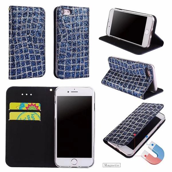 Samsung galaxy s9 s9plu için bling glitter deri manyetik case tpu arka kapak koruyucu kabuk için iphone 5 6 6 plus 7/8 7/8 artı x