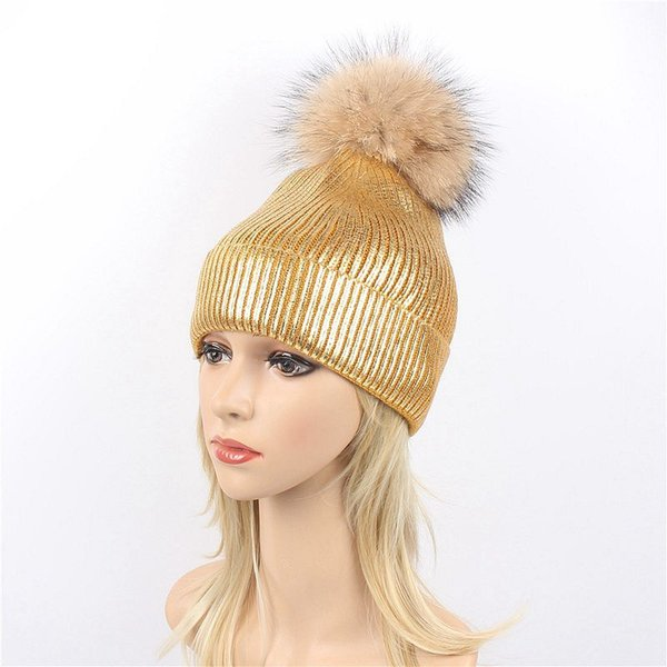 Wholesale- EU & US new scorpion hair ball hot stamping knit hat female autumn & winter light board curling wool hat tide protection warm hat