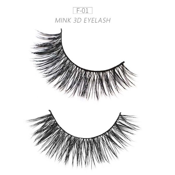 Free shipping 200Pairs 100% handmade real mink fur false eyelash 3D strip mink lashes thick eyelashes Makeup beauty