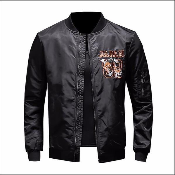 f31c8efed9e мужчины вышивка цветок куртка мода бейсбол воротник молния молодежное пальто  для мужчин мужской личности пиджак