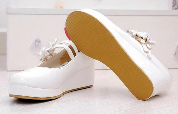 Envío gratis 2018 primavera y otoño nuevo estilo Slope heel bowknot Zapatos de mujer