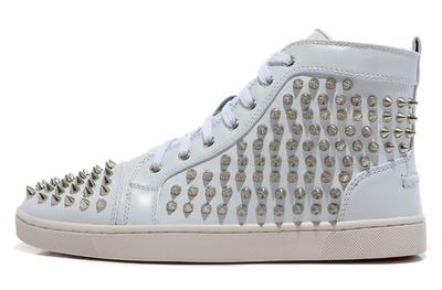 Fashion Designer Brand Studded Spikes Flats shoes Red Bottom Shoes For Men and Women Party Lovers Genuine Leather Sneakers 35-46 019