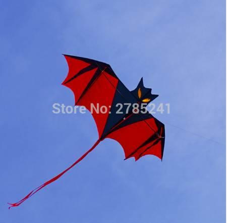 High Quality 190cm Huge Bat Kite red single line 3D Bird Animal Kite with Handle and 30m Strings for Kids&Adults Beach&Square