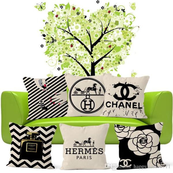 Роскошные творческий печатных белье наволочки подушки крышки вывесок ч письмо перевозке картины и вывески с духи Камелия шаблон наволочка
