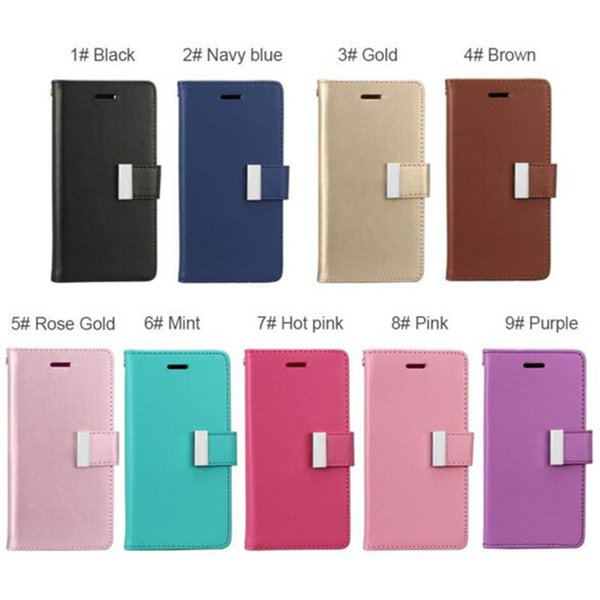 Hot sale Wallet Case For Iphone X 8 8Plus PU Leather Cases With Card Slot Side Pocket Cellphone Case For Iphone7 7 Plus