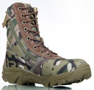 Großhandel Neueste Camouflage Stiefel Spezielle Soldaten Taktische Stiefel Feld Schlacht Hohe Wüste Stiefel Herbst Winter Neue Produkt Berg Schuh