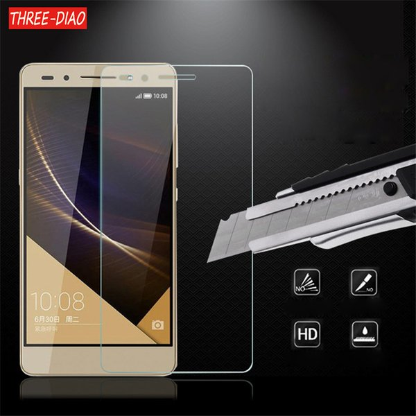 THREE-DIAO Tempered glass film Screen Protector For Huawei P8 P9 P10 Lite 2017 Honor 6 7 8 9 4C 5C  Protective Cover Film