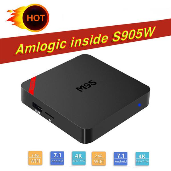 2018 Mini M9S Amlogic S905W Android 7.1 Marshmallow TV Box Quad Core 1G 8G Media Player HDMI Multimedia Set Top Box