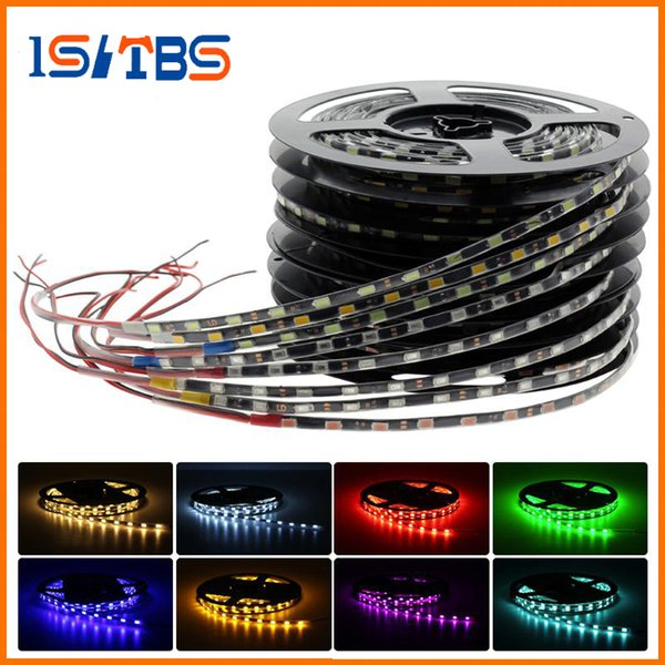 Tira flexible lateral IP65 impermeable 5730 LED Flexible 12V, 5.7mm / 4.7mm Ancho Negro / Blanco PCB 5M 300Leds