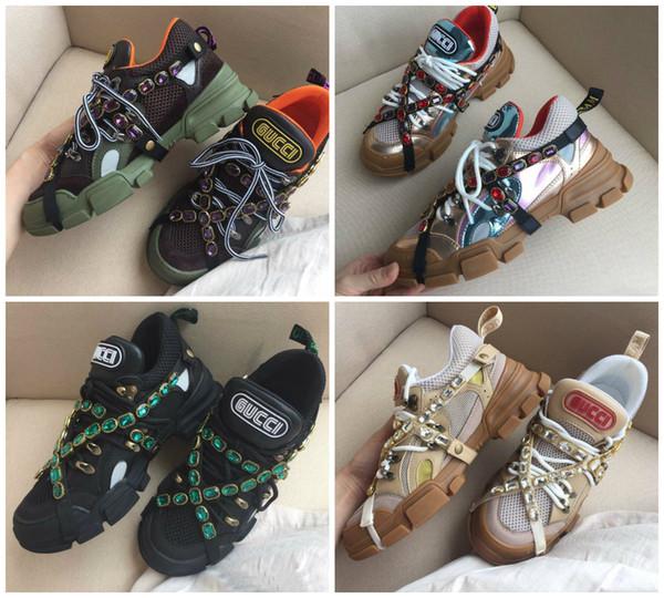 2018 Flashtrek-Sneaker mit abnehmbarem Kristall-Oversize-Design für Outdoor-Sneaker-Boots für Herren