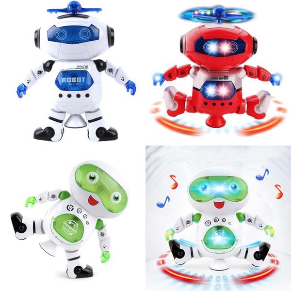 Giocattoli elettronici di musica del robot di ballo dello spazio astuto con il regalo della luce di musica per i giocattoli leggeri dell'astronauta dei bambini per i bambini
