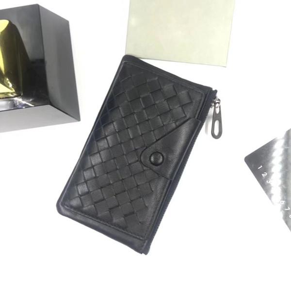 Ücretsiz gönderi! Erkek deri kartvizitlik tasarımcı hakiki kuzu derisi deri çanta çoklu dokuma örgü deri çanta mini çanta hediye