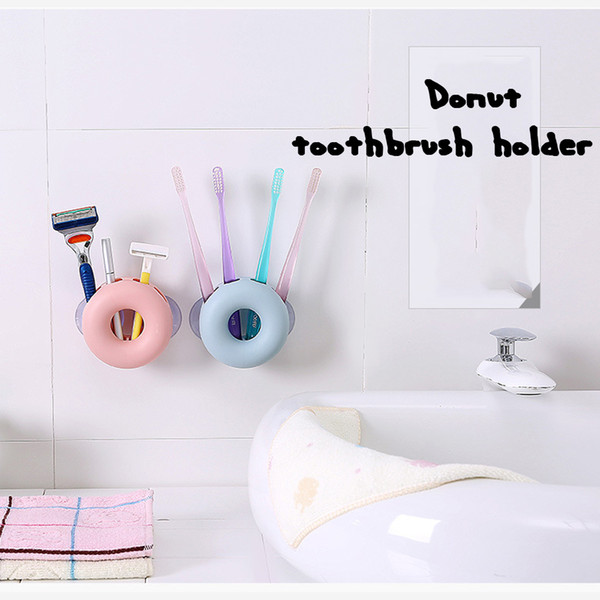 Wall Sucker Toothbrush Rack 4 Hole Bathroom Tools Holder Divider Home Organizer Accessories Supplies Gear Stuff Product