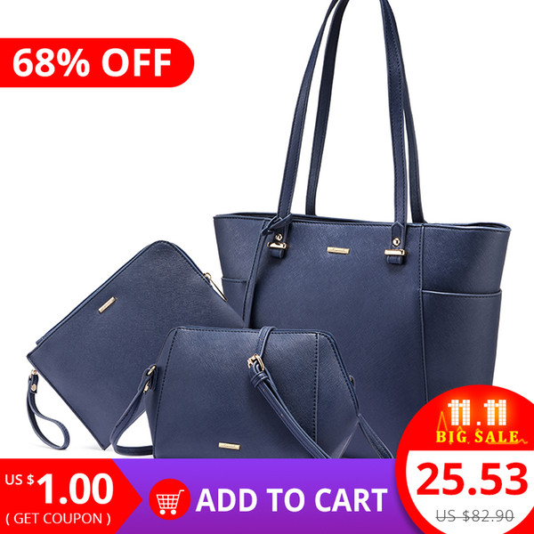 2019 Fashion LOVEVOOK handbags women 3 pcs set shoulder crossbody bags female clutch bag ladies messenger bags tote big high quality 2018