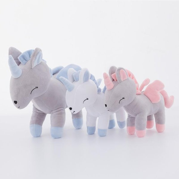 Cute Plush Unicorn 32cm 12.6 Inch Stuffed Animal Gerbil Plush Toy Unicorn Boy Girl Gift Four Colors