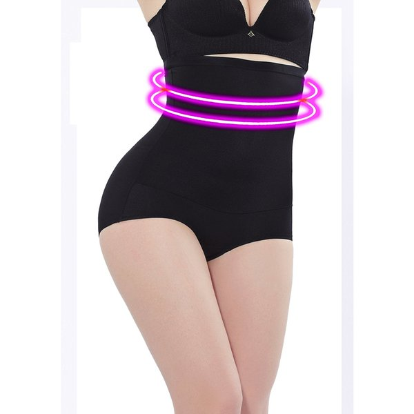 New Summer Thin High waist Firm Tummy Control Panties seamless Plus size Body Shaper Shapewear for women Black Panty Shaper