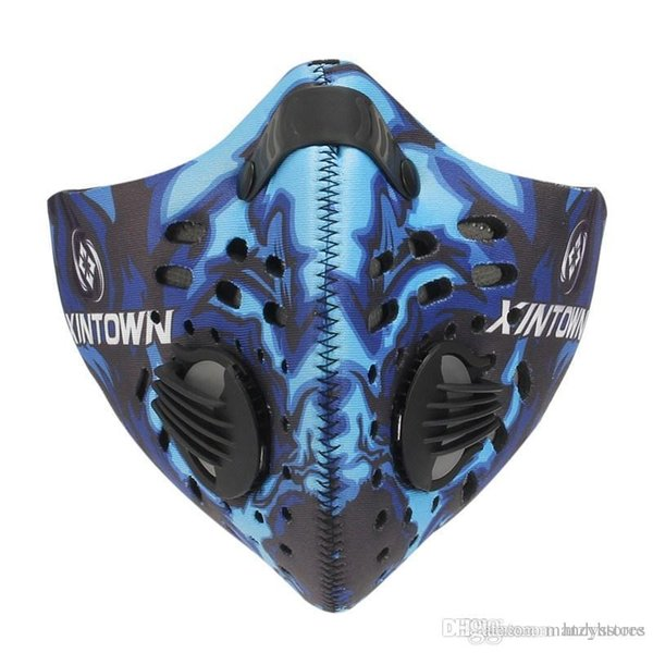 Wholesale- Hot Sale Anti Dust Pollution Bike Face Mask Nylon Carbon Bike Half Face Mask Filter Activated Cycling Equipment 4 Colors New