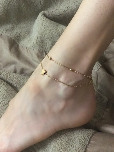 Cheap Barefoot Sandals For Wedding Beach Anklet Chain Hottest Stretch Gold Toe Ring Wedding Bridal Bridesmaid Jewelry Foot Anklet