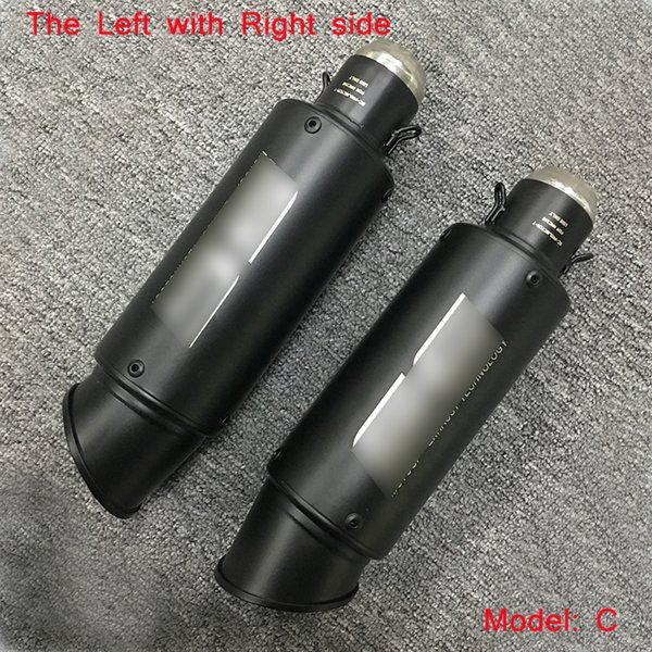 51mm Motorcycle Exhaust Muffler Tip Pipe Without DB Killer For Left With Right Side System