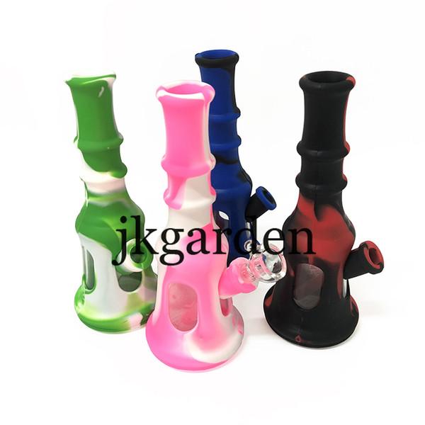 Bell Design creativo Pipa da Pipa in silicone VS Ciotola di vetro con vasetto di olio di cera e cucchiaio in acciaio inossidabile Colore casuale 0266203