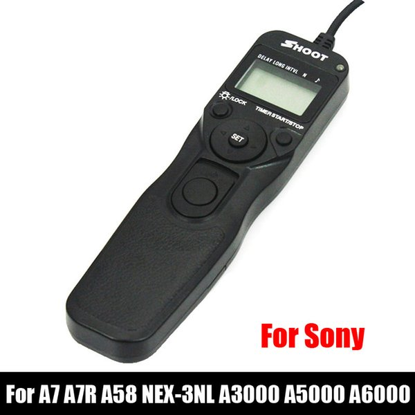 venta por mayor RM-VPR1 LED Selfie LCD temporizador de control remoto disparador de liberación de cable para Sony A7 A7R A58 NEX-3NL A3000 A5000 A6000 cámara