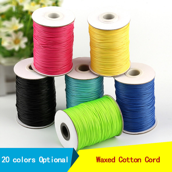 5m Waxed 1.5mm Thread Cord Cotton Craft Sewing Jewellery Making String Bracelet