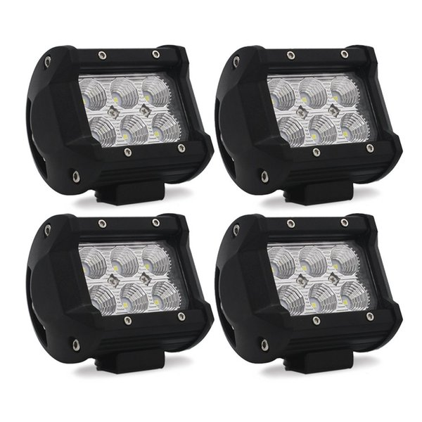 "MODERN CAR 2pcs 3.8"" LED Work Light Bar 18W Off Road Driving Lamp Fog Light Flood Lamp For Jeep SUV ATV UTV Trunk Golf Cart Boat"
