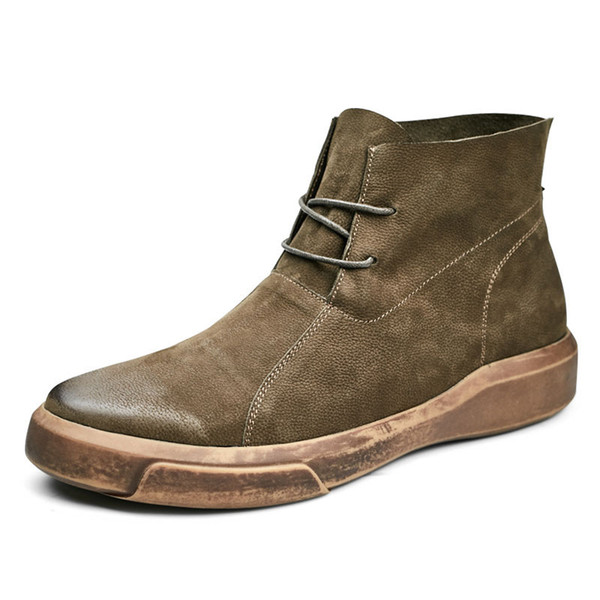 Martin boots trend all-match male Vintage shoes men boots autumn winter British retro cowhide breathable casual boots Leisure