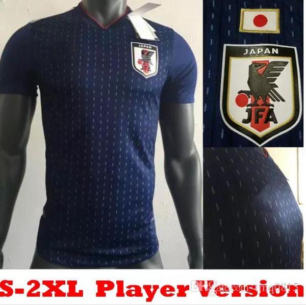 2018 2019 world cup Player version Japan Soccer Jersey Japan Home blue soccer  Shirt 10 KAGAWA 9 OKAZAKI 4 HONDA football 18 19 world cup 91b806e11