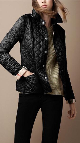 Donne di alta qualità addensare cappotto Temperamento Risvolto monopetto Slim caldo piumini Spinning Suit 26