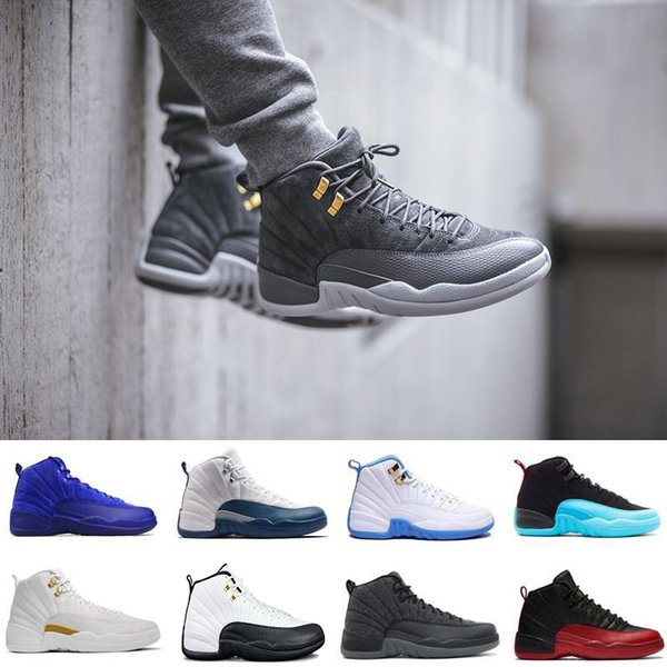 2018 Новый волк серый 12 Бордо гамма синий Баскетбольная обувь Мужчины Спорт Обувь т