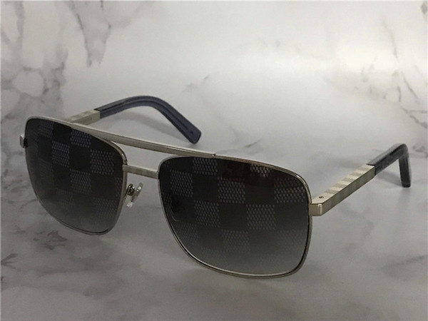 vintage designer sunglasses for men attitude 0259 metal square frame blocks uv400 lens outdoor protection eyewear with orange box