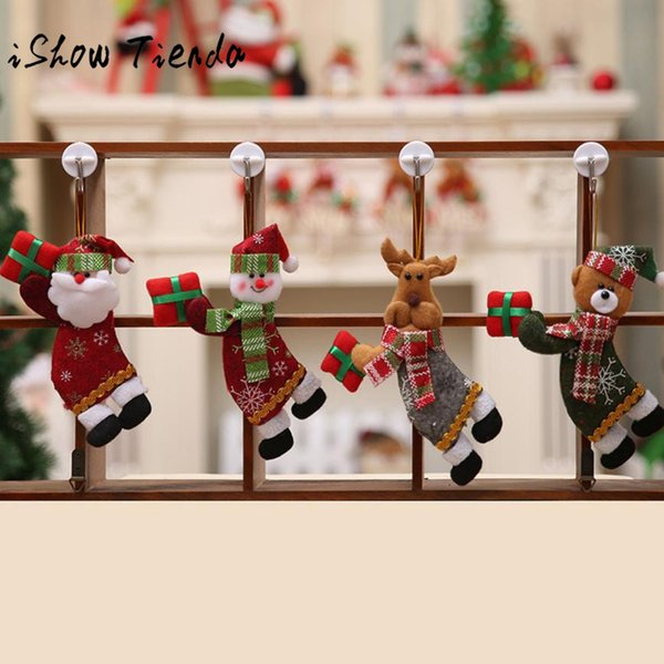 Merry Christmas 18*10CM Ornaments Gift Santa Claus Snowman Tree Toy Doll Hang Natal Decora o Christmas Decorations for Home