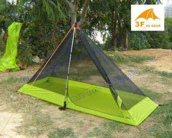 Summer tent 3F Pedesstrian 210T ultra-light high density mesh 1 person inner tent